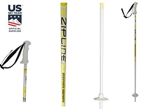 Zipline Ski Poles Carbon Composite Graphite Podium Junior U.S. Ski Team Official Ski Pole of U.S. Ski Team (Downhill Skiing/Kids / Junior) (38