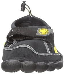 Body Glove Seek Water Shoe (Little Kid/Big Kid), Black/Yellow, 1 M US Little Kid