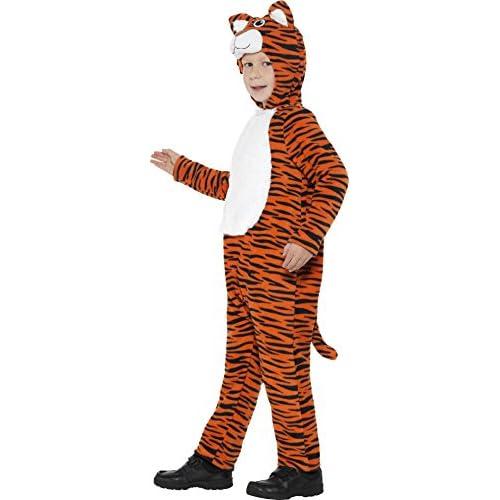 Smiffys 46754L Déguisement Unisexe Enfant Tigre, Orange/Noir, Taille L
