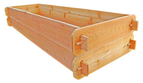 Timberlane Gardens Raised Bed Kit Double Deep (Two) Western Red Cedar with Mortise and Tenon Joinery, 24'' W x 72'' L by Timberlane Gardens (Image #1)