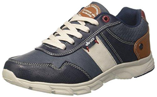 Lico Herren Newport Sneaker Blau (Blau/Beige/Rot)
