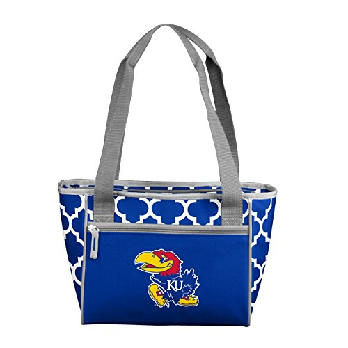 Logo Brands NCAA Kansas Jayhawks 16 Cooler Can Tote, Royal, One Size from Logo Brands