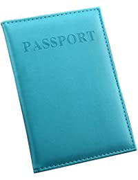Faux Leather Passport Holder - Cover - for Men & Women - Passport Case