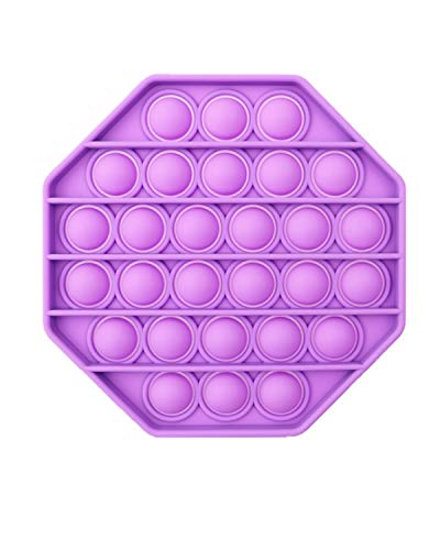 MUYSRC Fidget Toy,Popping Fidget Toy,Push It Bubble, Popping Game,Chuckle and Roar Stress Reliever,Bubble Popping (B2-Purple)