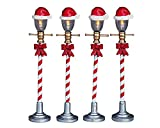 Lemax Village Collection Santa Hat Street Lamp Set of 4 # 64472