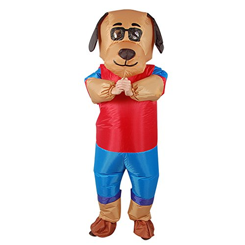 Vantina Adult Inflatable Dog Fancy Dress Full Body Suit -