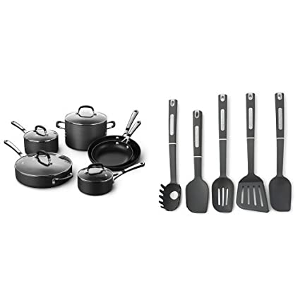 376a9ad27c1 Image Unavailable. Image not available for. Color  Simply Calphalon  Nonstick 10 Piece Cookware Set ...