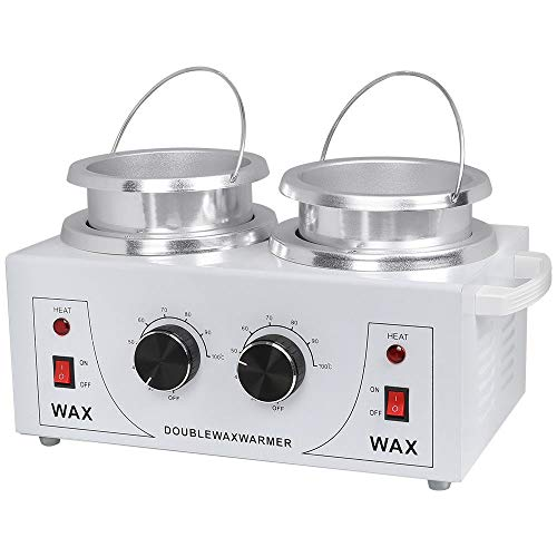 Price comparison product image Lapha' Professional Waxing Warmers 2 Pot Wax Warmer Heater Electric Machine Dual Pro Salon Hot Hair Removal 100W / 110V