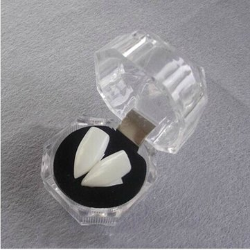 Easy Homemade Cosplay Costumes (Mask & Costumes - 2pcs Small Size Halloween Decoration Vampire Tooth Horror False Teeth - Halloween Vampire Tooth)