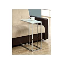 Tokyo C-Shape Snack Table in Chrome