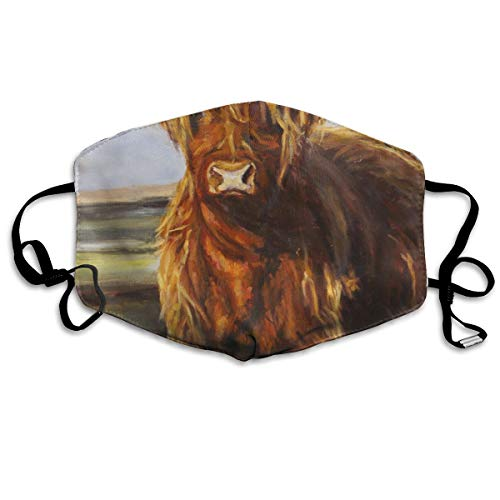 (HBLSHISHUAIGE Animal Yak Oil Paintings Unisex Creative Mouth-Masks Washable Safety 100% Polyester Comfortable Breathable Health Anti-Dust Half Face Masks)