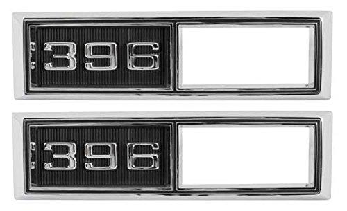 "Side Marker Bezels - Front -""396"" - LH/RH Pair - 68 Chevelle El Camino Fullsize Chevy Car; 68-69 Chevy II Nova"