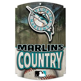 WinCraft Florida Marlins Country Wood Sign - Florida Marlins Sign