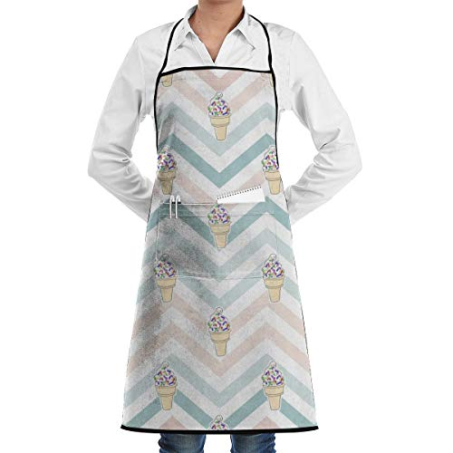 - HLive Vanilla Sprinkles Ice Cream Aprons for Women Men Girls, Cooking Baking Garden Chef Apron with Pocket