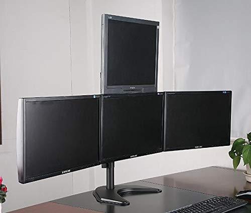Libera installazione supporto da tavolo per monitor Quad 3 * 1 Array Ergoshopping