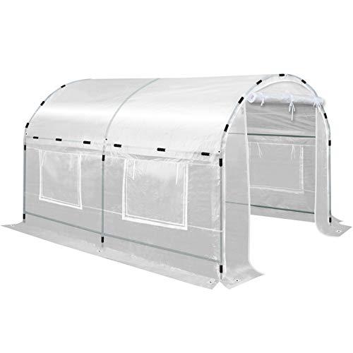 BenefitUSA Outdoor Green House Walk in Garden Greenhouse Canopy Gazebo Plant House (10'X7'X6′)