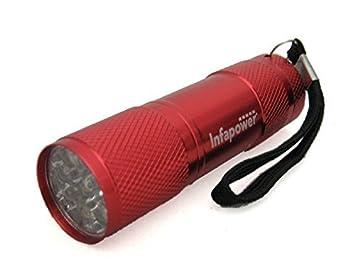 Infapower 9 Led Ultra Bright Shockprrof Mini Pocket Torch F006 (Red)