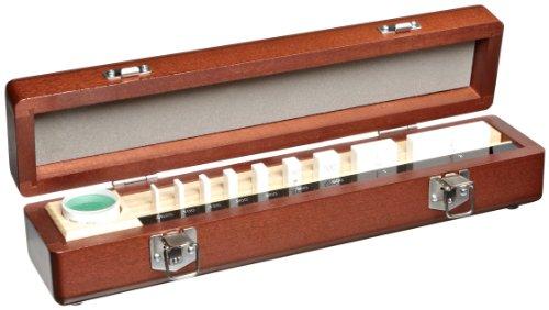 "Mitutoyo Ceramic Rectangular Micrometer Inspection Gage Block Set with Optical Parallel, ASME Grade 00, 0.0625 - 2.0"" Length (9 Blocks)"