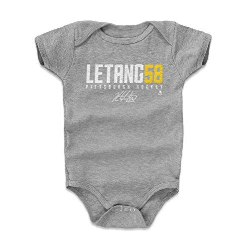 500 LEVEL Kris Letang Pittsburgh Penguins Baby Clothes, Onesie, Creeper, Bodysuit (12-18 Months, Heather Gray) - Kris Letang Letang58 W WHT