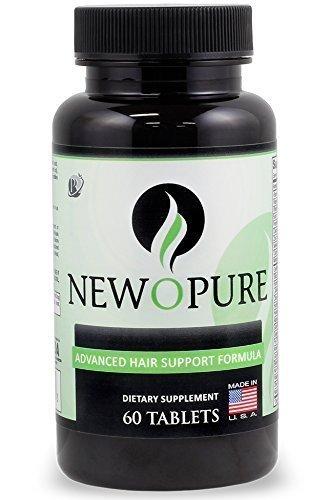 Newopure: Natural Hair Growth Vitamins, Repairs Hair Follicles, Stops Hair Loss, Blocks DHT, Stimulates New Hair Growth, Promotes Thicker, Fuller and Faster Growing Hair. Men & Women (30 Day Supply)