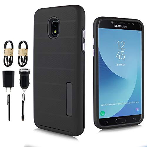 - Samsung Galaxy J3 2018, J3V J3 V 3rd Gen,Express Prime 3, J3 Star, J3 Achieve, Amp Prime 3 Case, [Light Slim Cover] Slim Protective Shockproof Cover [Value Bundle] (Black)