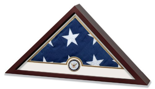 Us Navy Flags Pennants (Allied Frame United States Navy Flag Display Case with Embroidered US)