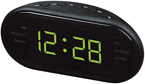 Alarm Clock, AM/FM LED Clock Electronic Desktop Alarm Clock