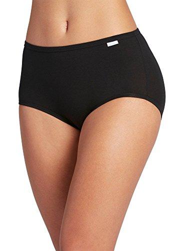 Jockey Women's Underwear Supersoft Brief - 3 Pack, Black, 8