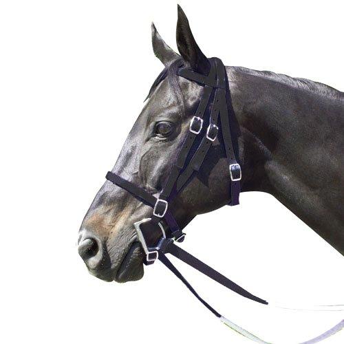 - Intrepid International Nylon Race Horse Bridle, Black