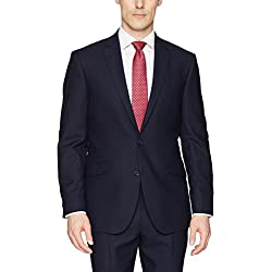 Kenneth Cole REACTION Men's Techni-Cole Stretch Slim Fit Suit Separate Blazer (Blazer, Pant, and Vest), Navy, 42 Regular