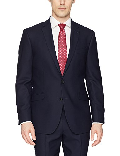 Kenneth Cole REACTION Men's Techni-Cole Stretch Slim Fit Suit Separate Blazer (Blazer, Pant, and Vest), Navy, 40 Regular