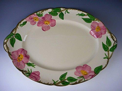 Franciscan Pottery DESERT ROSE - USA Stamp Oval Serving Platter VERY (Desert Rose Pottery)