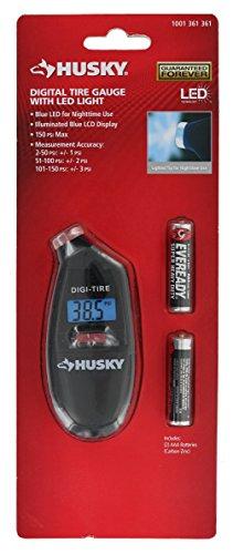 - Husky Portable 4 Inch Backlit Digital Tire Gauge With Nozzle Light