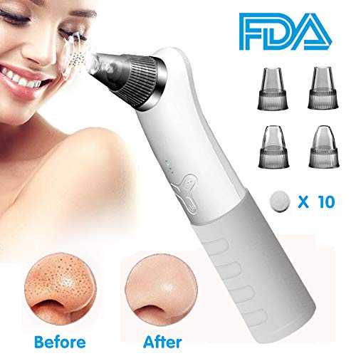 Blackhead Remover, Blackhead Vacuum Pore Cleaner Blackhead Remover Kit Blackhead Extractor Tool Electronic Facial Skin Comedo Cleaner with 4 Suction Levels for Men Women by ELFTEAR