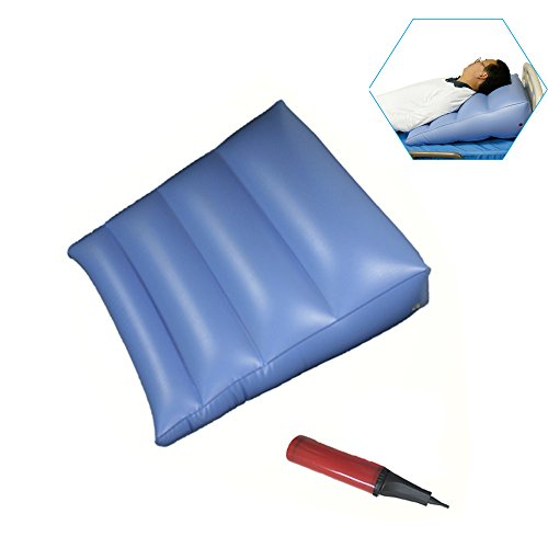 KIKIGOAL Semi-lying Anti-bedsore Inflatable Triangular Cushion Bed Backrest Cushion Thigh Pillow (Best Sleeping Position For Asthma Patients)