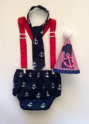 Image Unavailable Not Available For Color Nautical Anchor Boys Cake Smash First Birthday Outfit