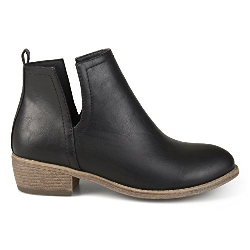 Brinley Co Women's Roxy Ankle Boot, Black, 7 Regular US
