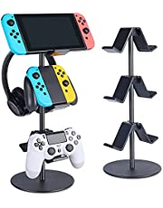 $26 » Controller Stand 3 Tier,Headphone Holder,KELJUN Multi Adjustable Game Controller Headset Hanger for All Universal Gaming PC Accessories, Xbox PS4 PS5 Nintendo Switch(Smart Black)