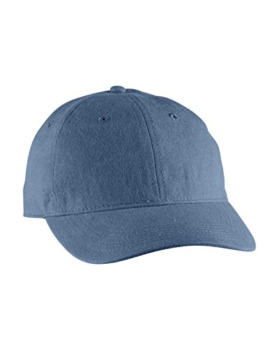 BC PIGMENT DYED BASEBALL CAP, BLUE JEAN, OS (School Cap Color)