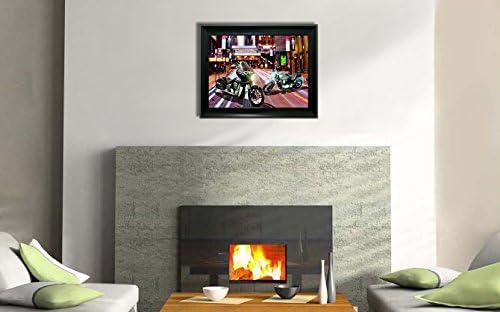 Triple imágenes en uno (3 en 1) 3d marco de fotos – 3d Lenticular Póster obras de arte decoración de la pared de imagen 3d holograma fotos ilusión óptica imagen (con marco