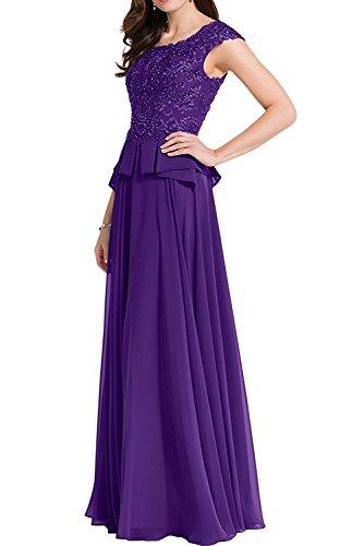 A Abendkleider Chiffon mia Braun Brautjungfernkleider Linie Lila Lang Tanzenkleider Partykleider Ballkleider Braut Herrlich La Z1HFqz