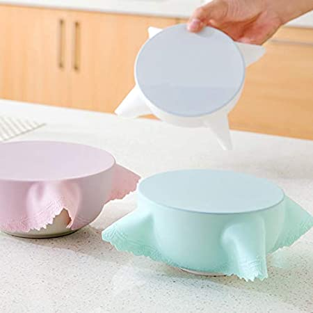 Tapa de silicona para microondas con tapas elásticas de ...