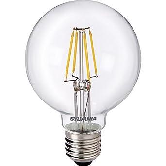 Sylvania - Bombilla LED filamento efecto G80 globo lámpara 5 W ES 640LM a + +: Amazon.es: Iluminación