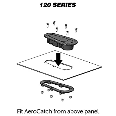 AeroCatch Xtreme Plus Flush Hood Latch and Pin Kit - Black - Part # 120-4000: Automotive
