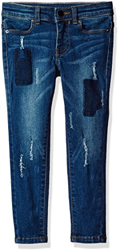 Calvin Klein Girls' Big Patchwork Ankle Skinny Jean