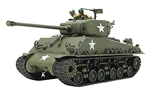 Tamiya 1/35 Military Miniature Series No.346 US Army Tank M4A3E8 Sherman Easy Eight European front plastic model (M4a3e8 Tank Model)