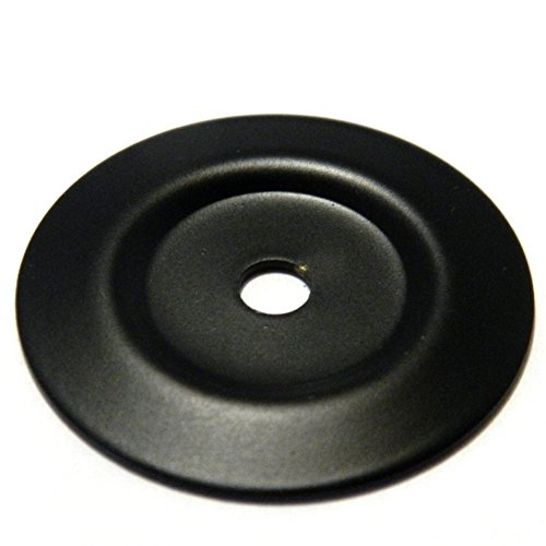 """BK20-10B Oil Rubbed Bronze 1 1/4"""" Cabinet Knob Pull Backplates Hickory"""