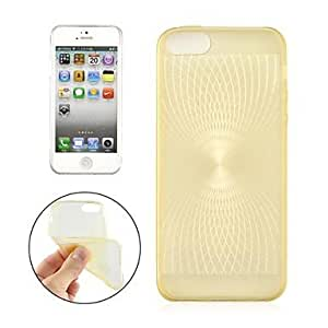 QYF Angibabe 0.3mm Ultra-thin TPU Sun Eyes Pattern Case Cover for iPhone 5 (Assorted Color) , Rose