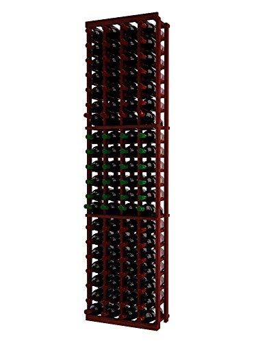 Wine Cellar Innovations TR-CM-4COL-A3 Traditional Series 4 Column Wine Rack, Premium Redwood, Classic Mahogany Stain