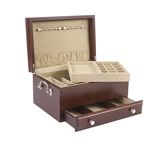 American Chest Contessa Jewelry Box ,Solid CHERRY with Mahogany Finish by American Chest by American Chest